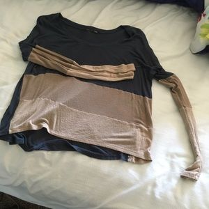 Size small, blue and tan, soft mesh top.
